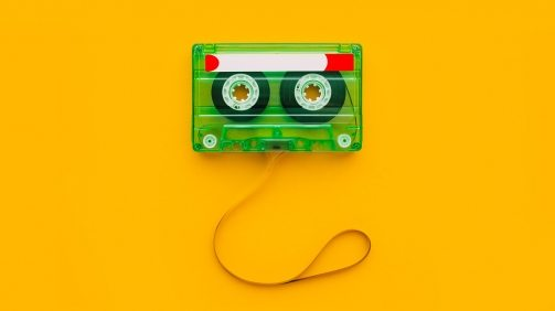 top-view-of-audio-cassette-with-tangled-tape-UND3Q96