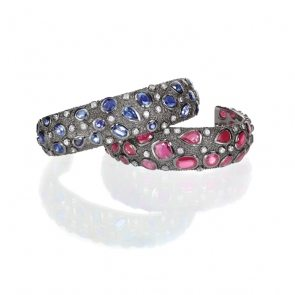 blue-and-red-gemstone-cuff-bracelet-stacok-VUFEZMR-1