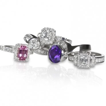 cluster-stack-of-diamond-wedding-engagment-rings-CGXZHR4