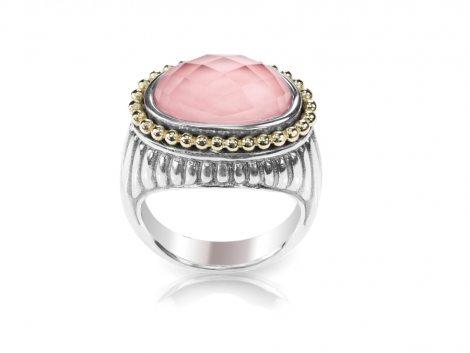 rose-quartz-silver-and-gold-ring-4DSMLPV