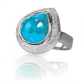 turquoise-silver-fashion-ring-cushion-cut-EWXDF4Z